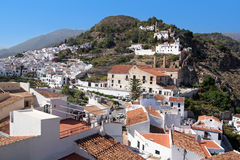 Panoramic view of Frigiliana on Costa del Sol, Spain Stock Images