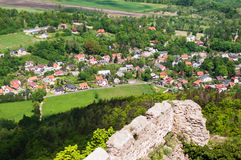 Panoramic View From The Castle Chojnik Royalty Free Stock Image