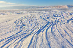 Panoramic view of frozen landscape Royalty Free Stock Images