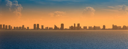 Panoramic View of Ft. Lauderdale Stock Photos