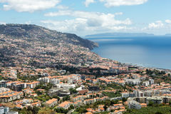Panoramic view of Funchal on Madeira Island. Royalty Free Stock Image