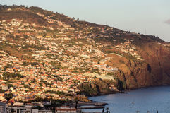 Panoramic view of Funchal on Madeira Island. Royalty Free Stock Images