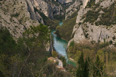 Panoramic view of Furlo gorge, marches Stock Photo