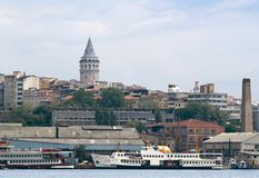 Panoramic view of Galata Royalty Free Stock Photos