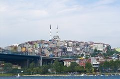 Panoramic view on Galata (Istanbul) Royalty Free Stock Images