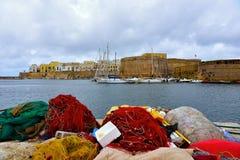 Gallipoli. Puglia. Italy. Panoramic view of Gallipoli. Puglia. Italy stock photography