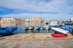 Panoramic view of Gallipoli. Puglia. Italy. Stock Photos