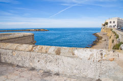 Panoramic view of Gallipoli. Puglia. Italy. Stock Photos