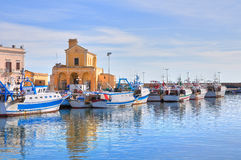 Panoramic view of Gallipoli. Puglia. Italy. Stock Photography