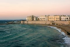 Panoramic view of Gallipoli - Puglia Royalty Free Stock Images