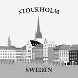 Panoramic view of the Gamla Stan. Stockholm, Sweden Stock Photos
