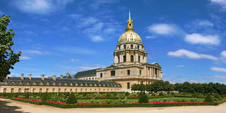 Panoramic view on garden in Paris, France. Royalty Free Stock Images