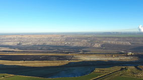 Panoramic view of Garzweiler surface mine - aerial view stock video