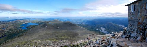 Panoramic view from Gaustatoppen Royalty Free Stock Photo