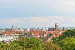 Panoramic view at Gdansk,  Poland Stock Photo
