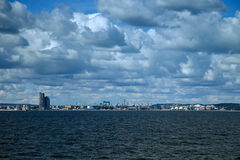 Panoramic view of Gdynia Stock Images