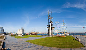 Panoramic view of Gdynia Stock Photo