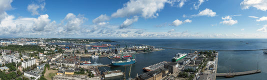 Panoramic view of Gdynia, Poland. Stock Images
