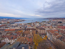 Panoramic View of Geneva Royalty Free Stock Photos
