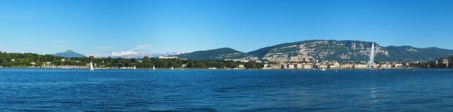 Panoramic view of Geneva area, Switzerland Stock Photo