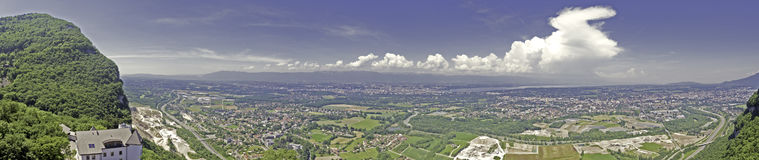 Panoramic View of Geneva Royalty Free Stock Photography