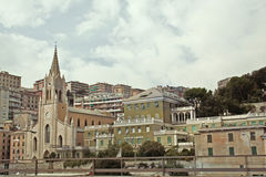 Panoramic view of  Genoa Stock Photography