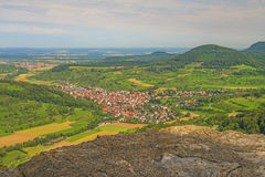 Panoramic view in Germany. Panoramic view of the German castle Reussenstein Royalty Free Stock Image