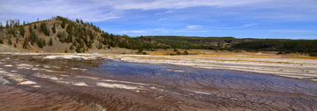 Panoramic view of Geycer basin Stock Images