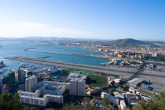 Panoramic view of Gibraltar Royalty Free Stock Photos
