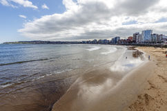Panoramic view of Gijon Stock Images
