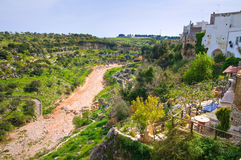 Panoramic view of Ginosa. Puglia. Italy. Stock Photo