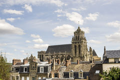 Panoramic view of Gisors (Normandy) Royalty Free Stock Photography