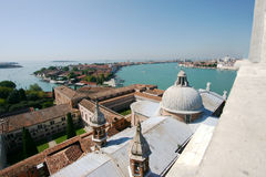 Panoramic view of the Giudecca Canal , Venice Royalty Free Stock Photography