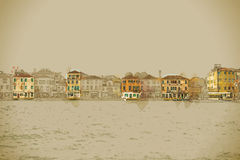 Panoramic view of Giudecca Island Stock Photography