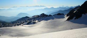 Panoramic view of glacier Stock Photos