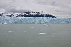 Panoramic view of glacier wall stock images