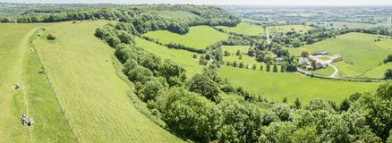 Panoramic view of the Gloucestershire Countryside, UK Stock Images