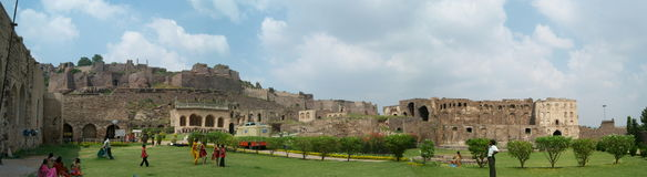 Panoramic view of Golconda fort, hyderabad Royalty Free Stock Image