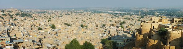 Panoramic view of golden city Jaisalmer,Thar desert,India Royalty Free Stock Image