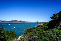 Panoramic View of the Golden Gate Bridge in San Francisco, California Stock Images