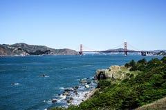 Panoramic View of the Golden Gate Bridge in San Francisco, California Stock Images