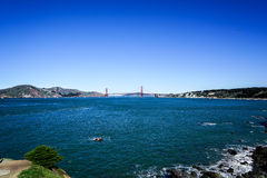Panoramic View of the Golden Gate Bridge in San Francisco, California Royalty Free Stock Photos