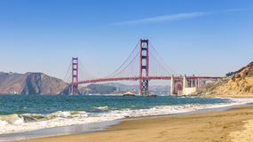 Panoramic view of Golden Gate Bridge, San Francisco. Royalty Free Stock Photography
