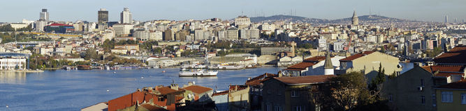 Panoramic view of Golden Horn Stock Image