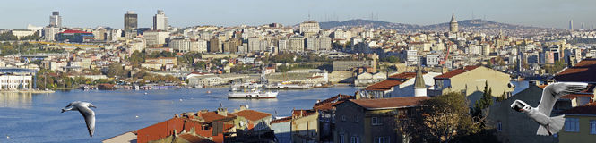 Panoramic view of Golden Horn Royalty Free Stock Photo