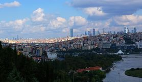 Panoramic view of Golden Horn royalty free stock images