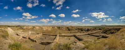 Panoramic View from Gordium, capital city of ancient Phrygia royalty free stock images