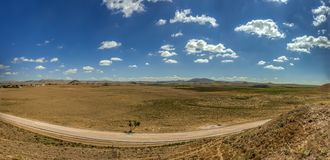 Panoramic View from Gordium, capital city of ancient Phrygia royalty free stock photo