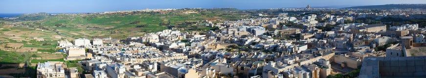 Panoramic view of Gozo stock photo