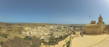 Panoramic view of Gozo Malta. View from Capital Victoria Royalty Free Stock Photo